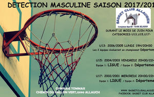 DETECTION U13-U15-U17 MASCULINS
