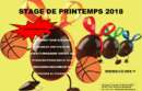 STAGE DE BASKET VACANCES DE PRINTEMPS 2018