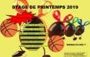 STAGE VACANCES PRINTEMPS 2019